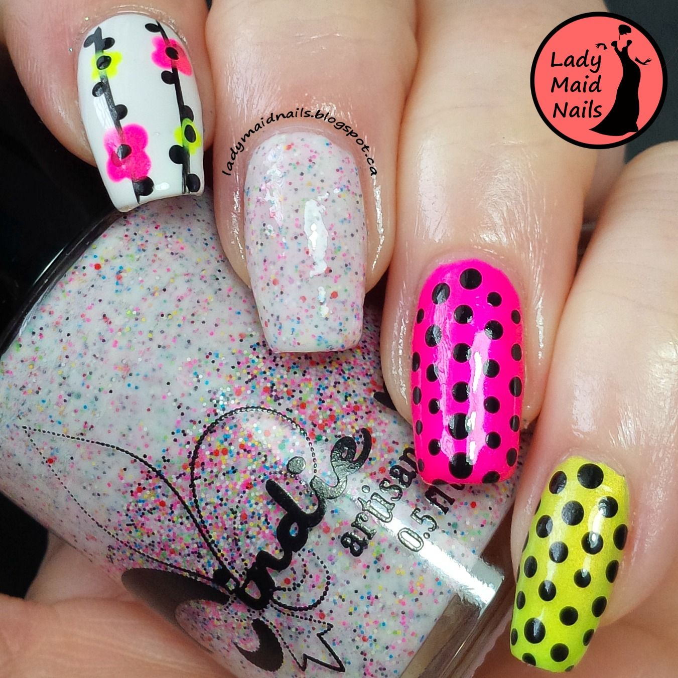 Lady Maid Nails: Jindie, Skittlette | Nail Art - Dots and Dot Art ...