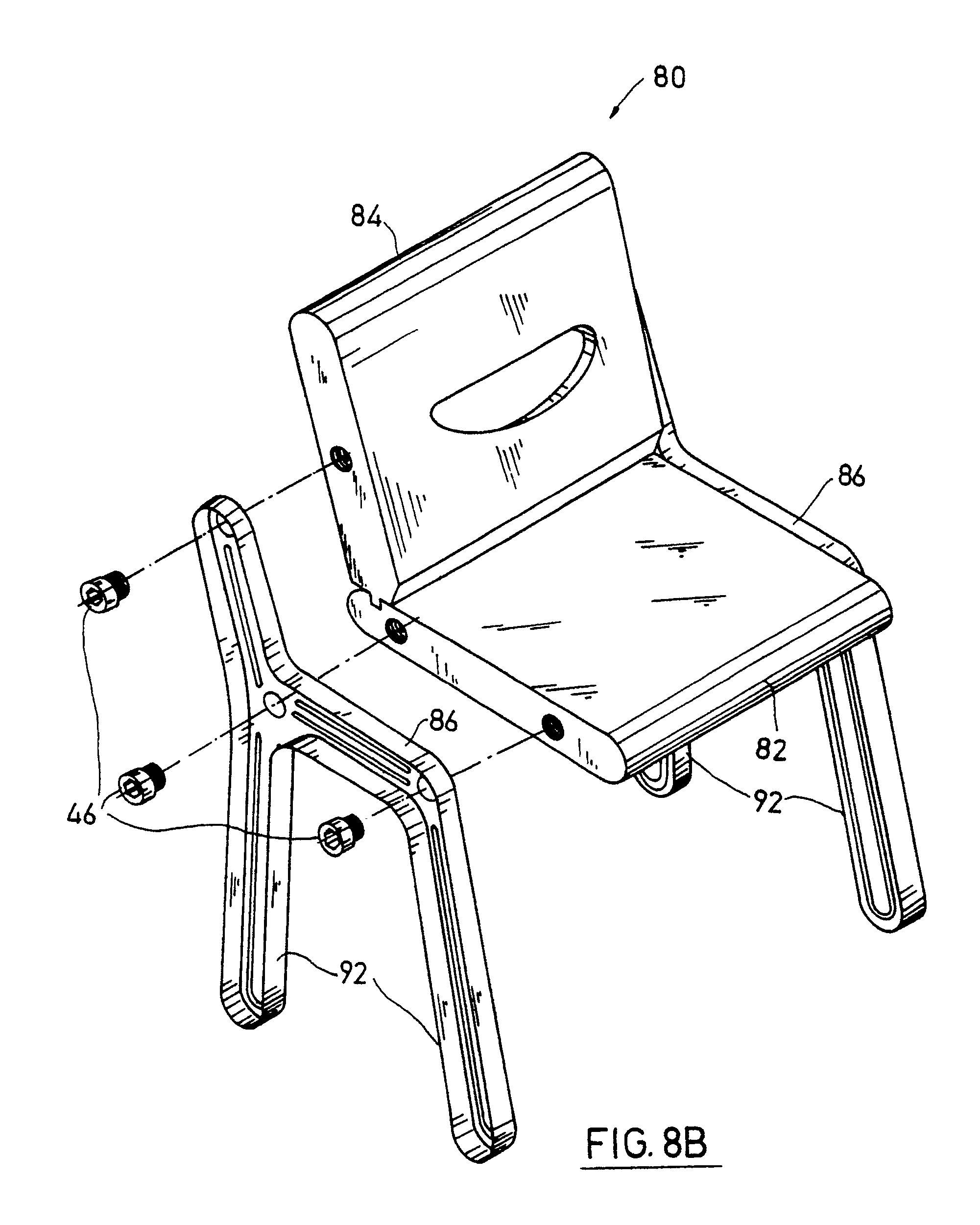 Plastic Chair Assembly Drawing