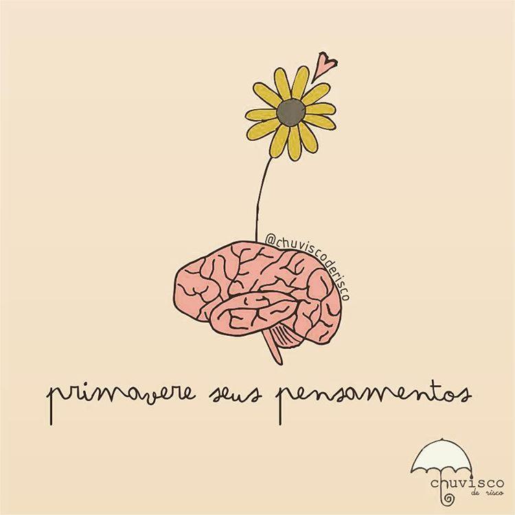 """Primavera chegou... ""Primavere"" seus pensamentos, ""primavere"" suas idéias.  #chuviscoderisco #ilustra #primavera"""