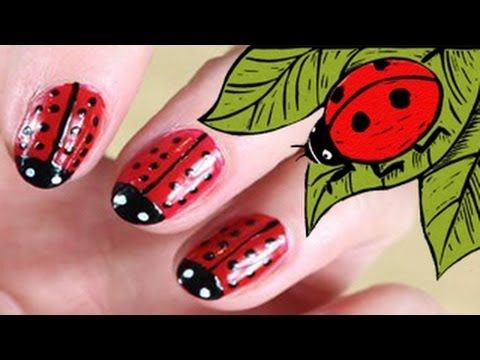 ▶ Lady Bug Nail Art - YouTube