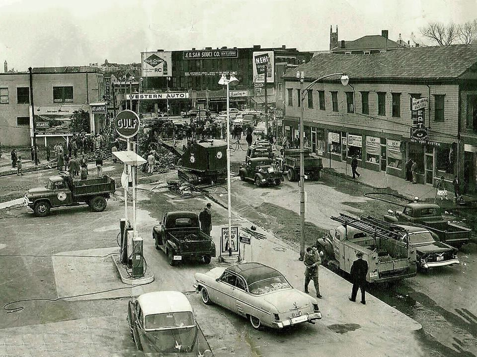 Circa 1958 Water Main Break At Olneyville Square In Providence R I Rhode Island History Rhode Island Water
