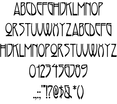 arts and crafts movement typefaces | Free Arts Fonts