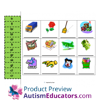 Phonics Cut and Paste for Autism: Inspired by Evan Autism Resources.