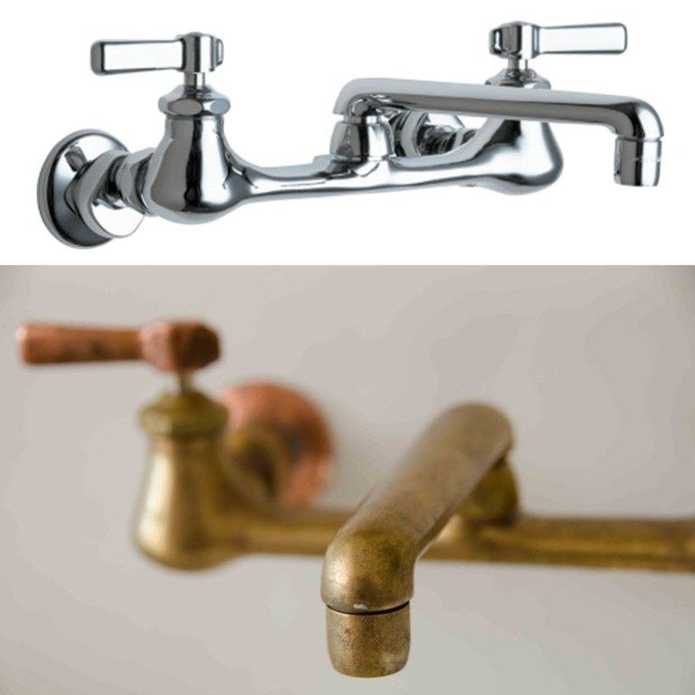 How To Get An Antiqued Brass Faucet For Way Less Antique Brass Faucet Antique Brass Bathroom Faucet Brass Faucet