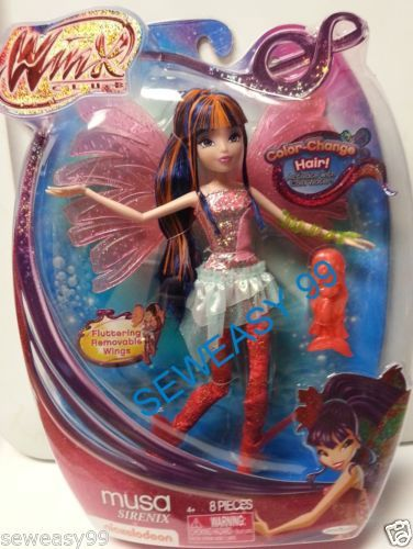 Winx Club MUSA Sirenix doll new with Fluttering removable wings 8 Pieces