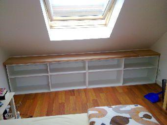 Meuble sous pente recherche google chambre meuble sous pente amenagement combles chambre - Meubles combles ...