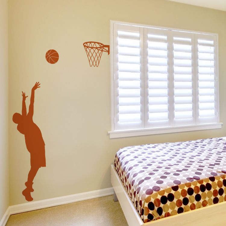 Best Basketball Player Wall Decals Stickers Graphics Basketball Theme Room Sports Wall Decals 400 x 300