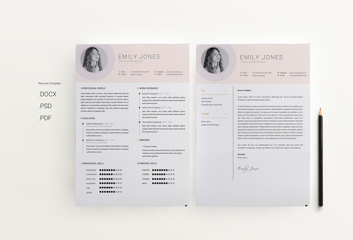check out my behance project simple cv resume template https