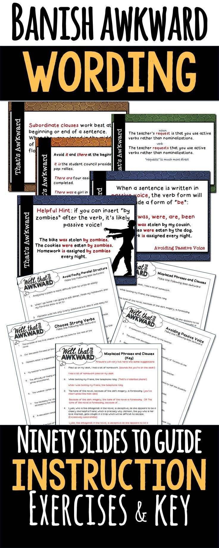 Awkward Wording Help Your Students Write Strong, Clear