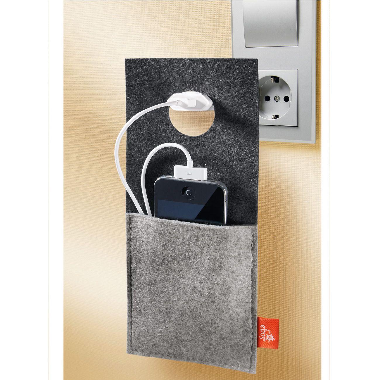 ladetasche ebos design ladestation aus trendigem filz. Black Bedroom Furniture Sets. Home Design Ideas