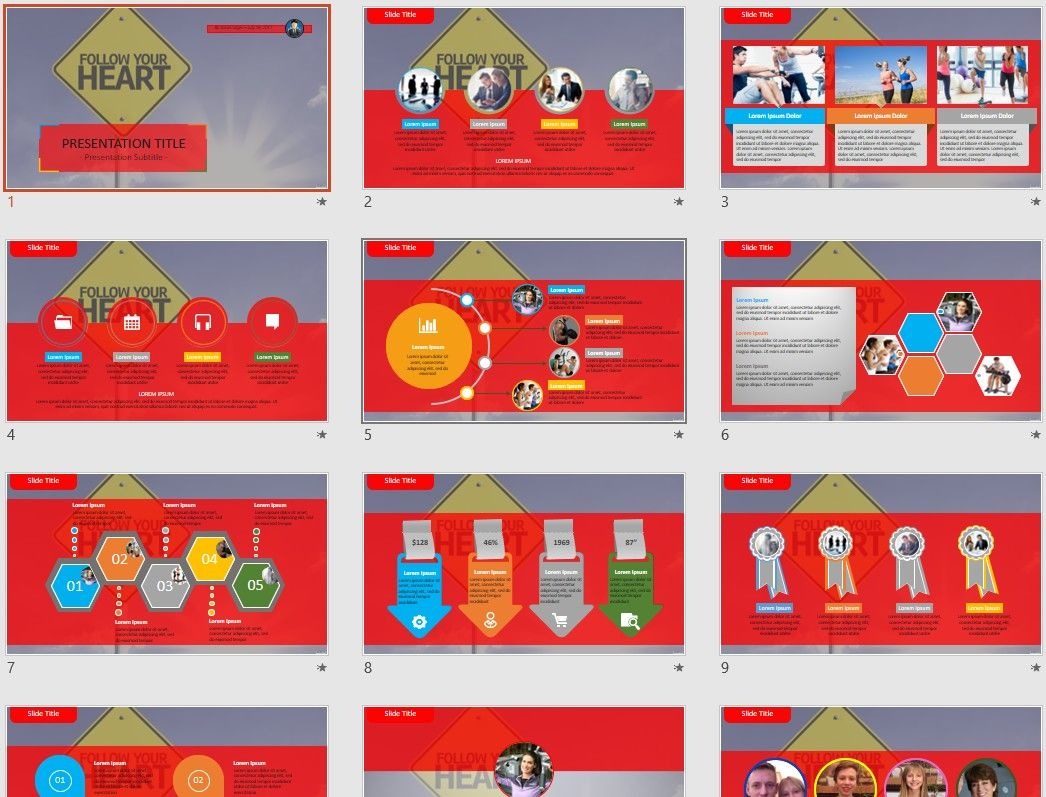 Follow your Heart PowerPoint by SageFox | Themed PowerPoint by ...