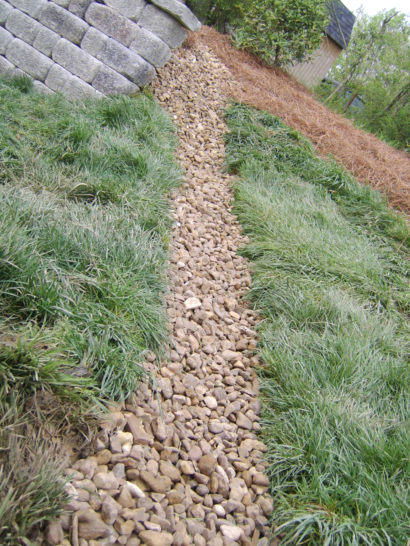dry creek bed drainage middle tn nashville landscape pinterest