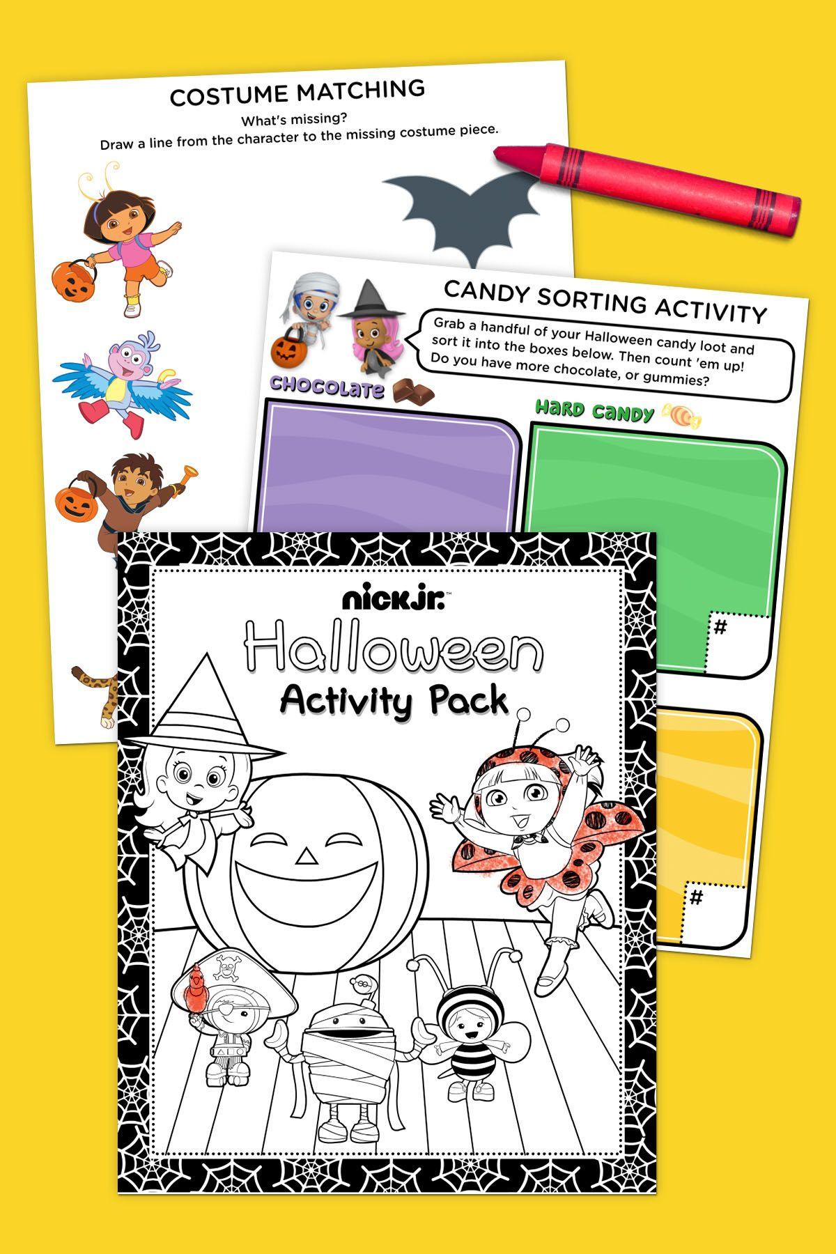 Nick Jr. Halloween Activity Pack | activity books/sheets | Pinterest