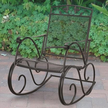Fantastic Mainstays Jefferson Wrought Iron Porch Rocking Chair Gamerscity Chair Design For Home Gamerscityorg