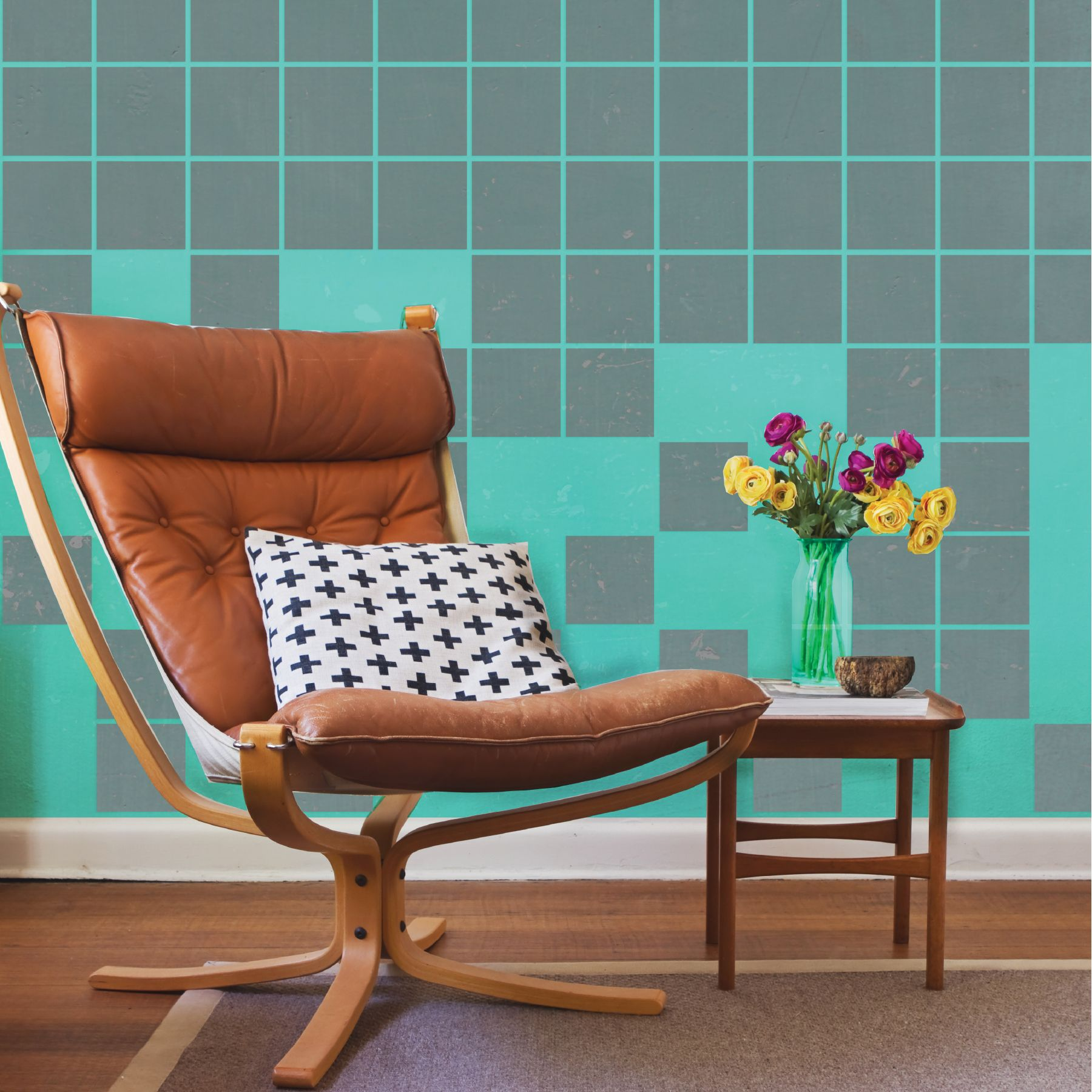 Be There or Be Square Tile 4\'\'   Pinterest   Stenciling, Squares and ...