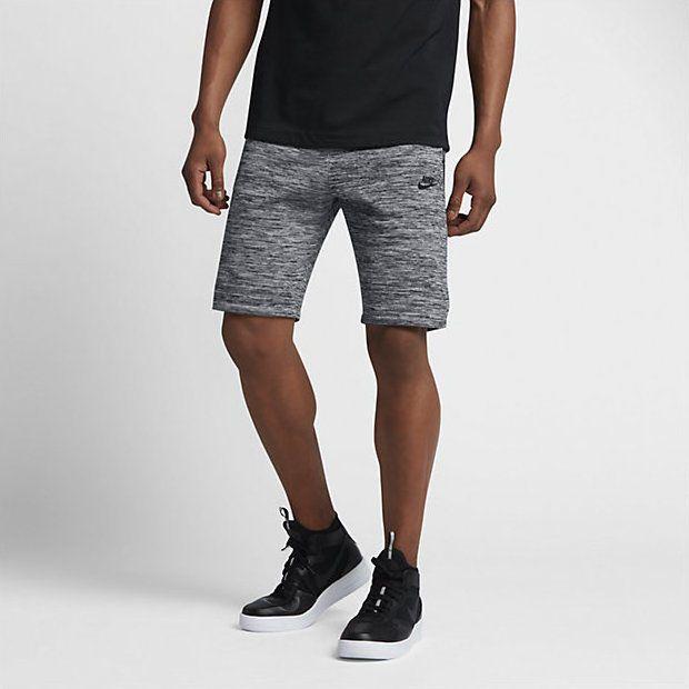 Nike Sportswear Tech Knit Men's Shorts Carbon Heather/Black