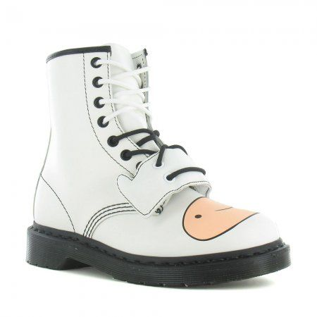 Buy the Limited Edition Dr Martens Finn Adventure Time Unisex Leather Boots  in White at Scorpio shoes.