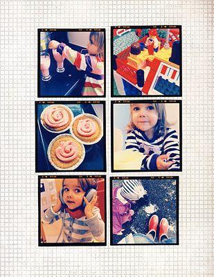 Instagrams in simple scrapbook layout.