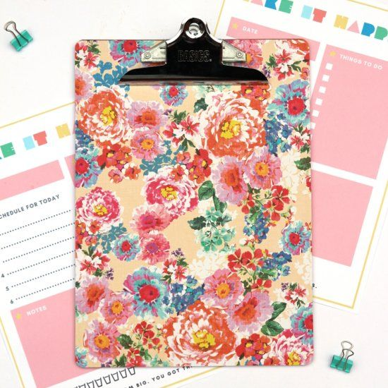 Get organised with this simple method to decorate a clipboard.