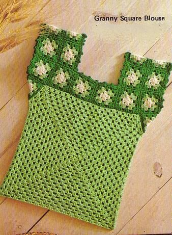 Free Pattern] Crochet A Pretty Granny Squares Blouse   Häkeln ...