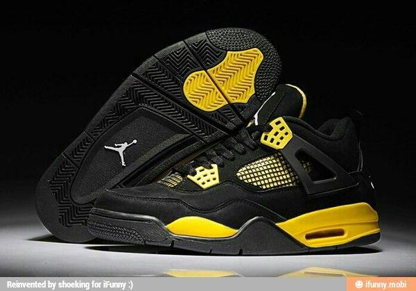 38b866221e8943 ... sale aj iv thunder jordan retro 4 jordan 4 black kids jordan shoes air  3b2f6 16381