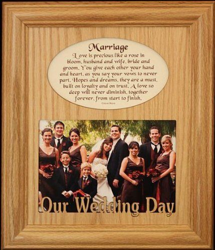 8x10 MARRIAGE Photo & Poetry Frame ~ Holds a Landscape 5x7 Picture ...