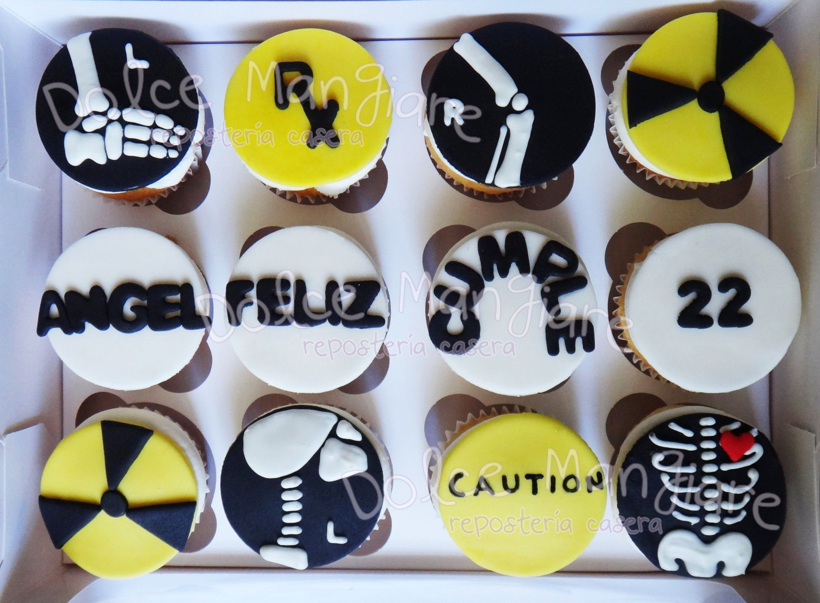 Rx Cupcakes Radiologia Huesos Radiology Cupcakes X Ray Cupcakes