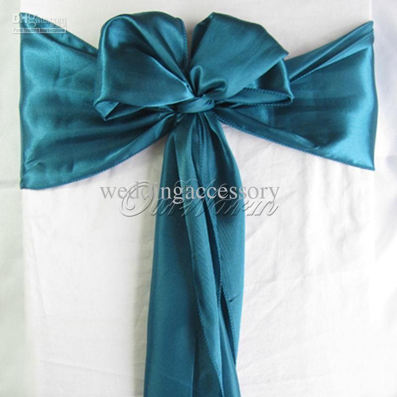 Wholesale Cheap Satin Chair Sashes Online Wedding Party Find Best 100 Teal Blue Satin Chair Sash Wed Wedding Decor Elegant Wedding Party Supplies Teal Chair