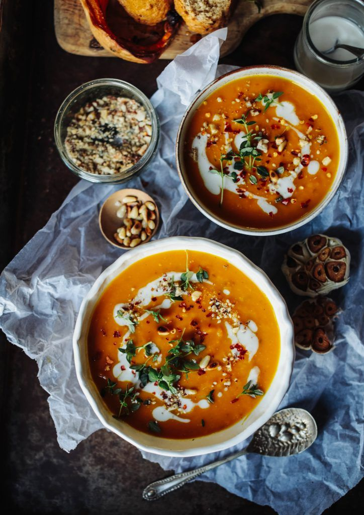 Spicy Butternut Squash, Sweet Potato and Coconut Soup - Rebel Recipes