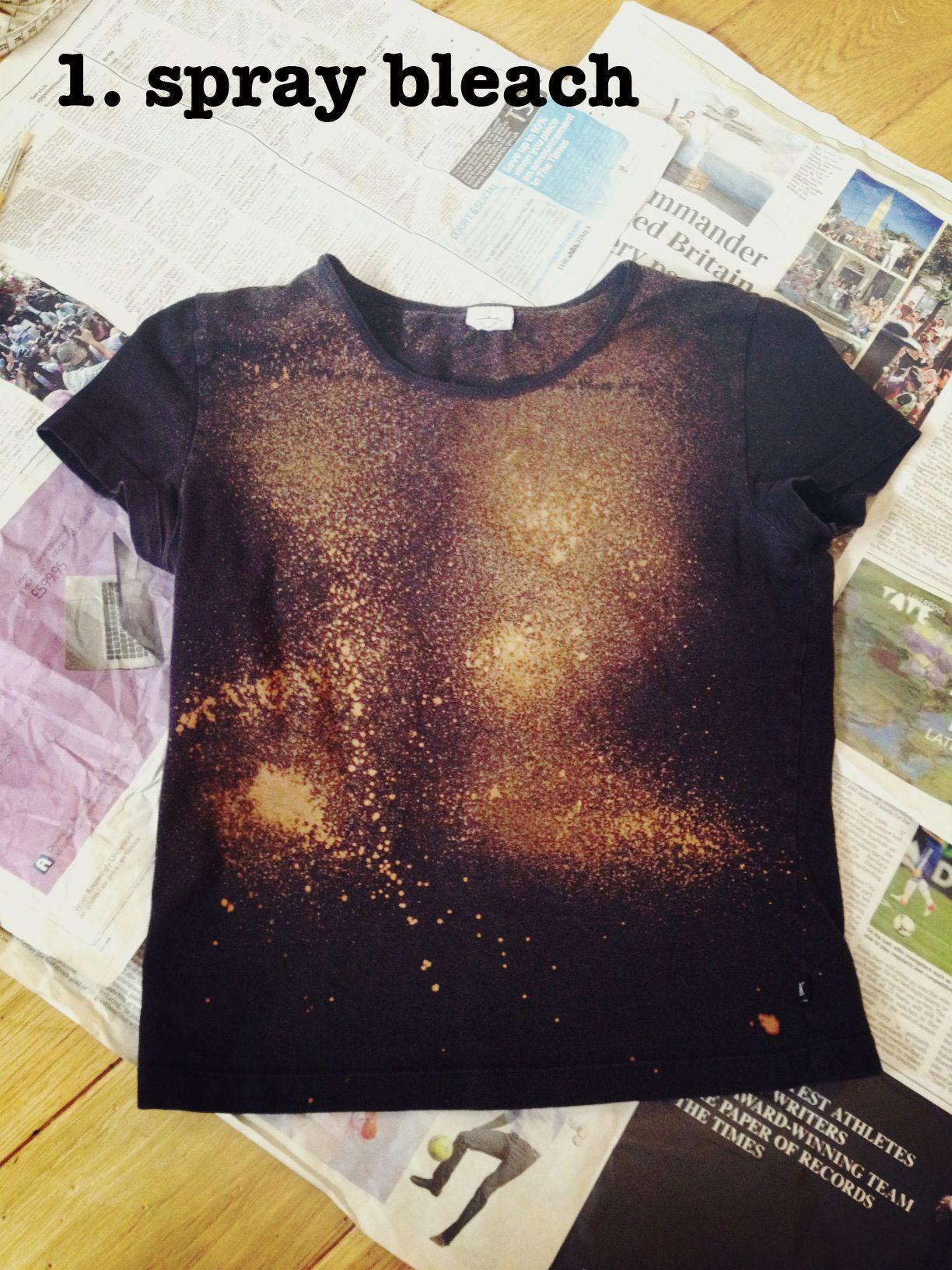 Diy Galaxy Print T Shirt Super Stars Diy Diy Clothes Diy Shirt
