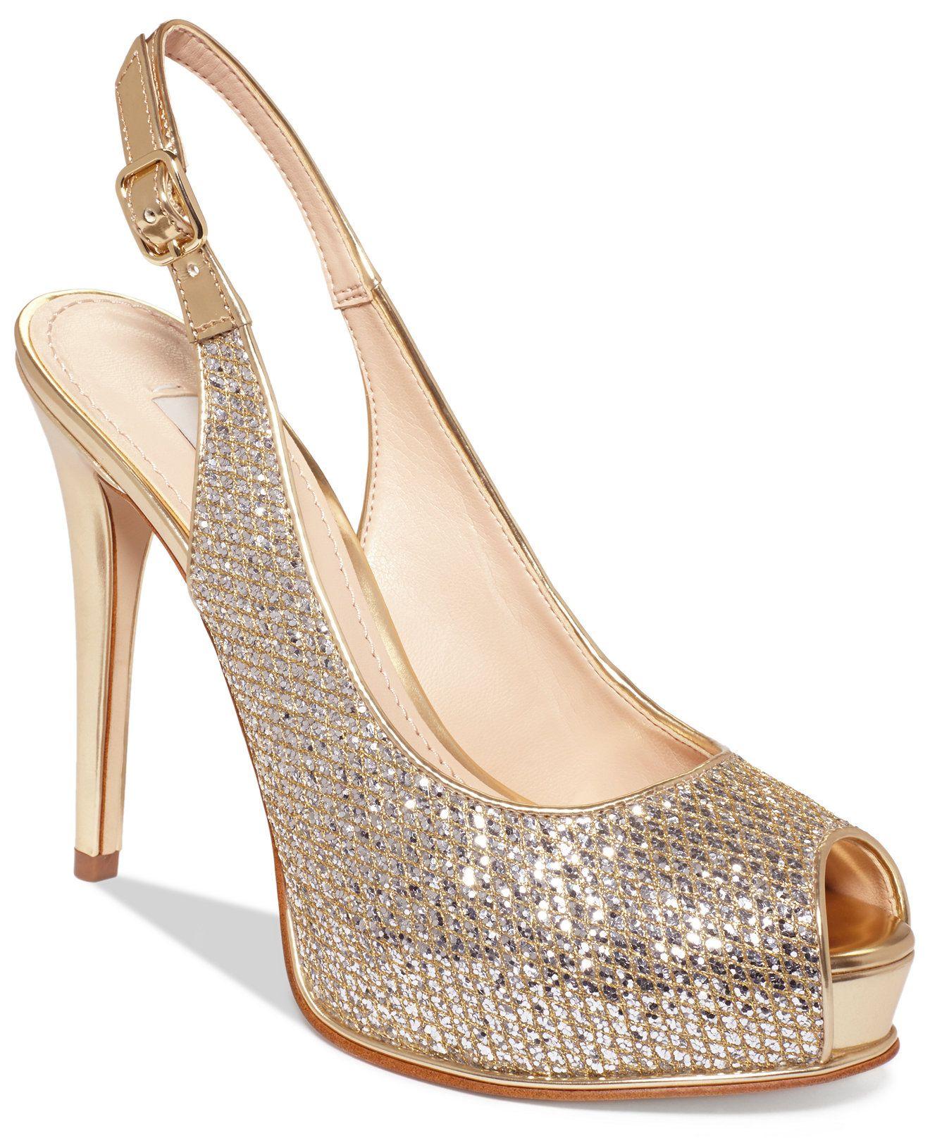 Womens Shoes GUESS Huela Gold Glitter