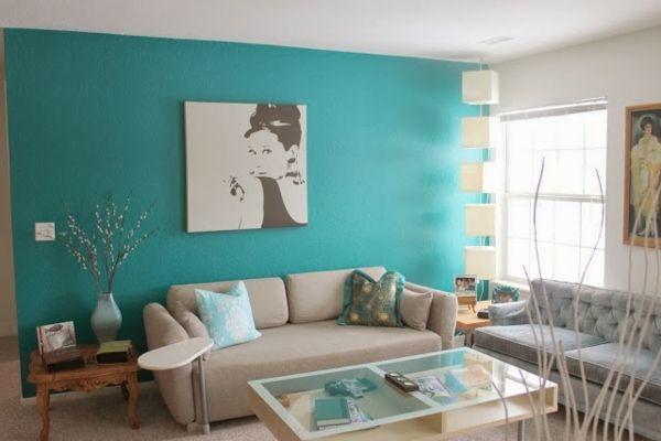 30 Farbideen für Wandfarbe in Türkis -    freshideen