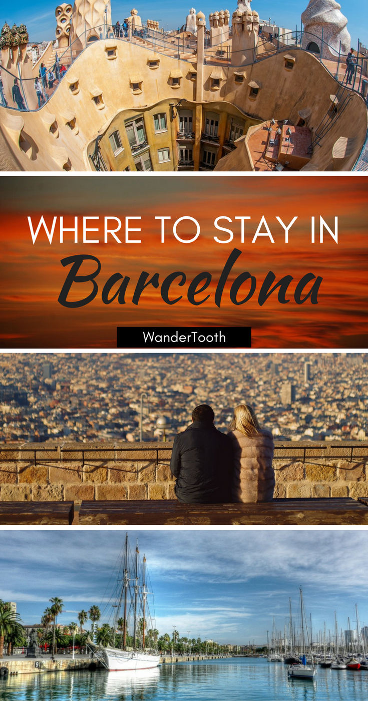 Where to stay in Barcelona, Spain: all you need to know about Barcelona's best neighborhoods. Tips and recommendations for places to stay in Barcelona. | Barcelona Travel Tips | Barcelona city guide - WanderTooth