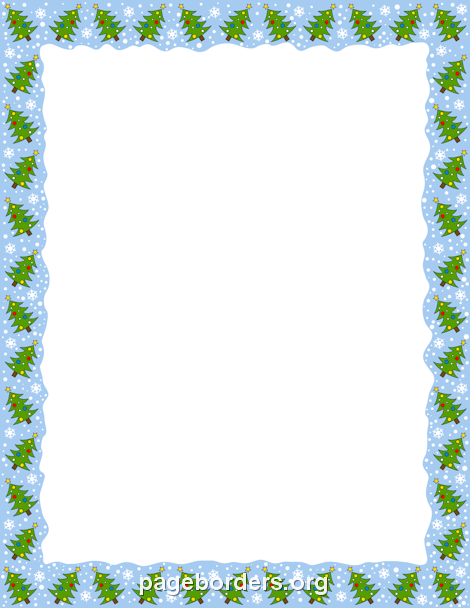 Christmas Tree Border Clip Art Page And Vector Graphics