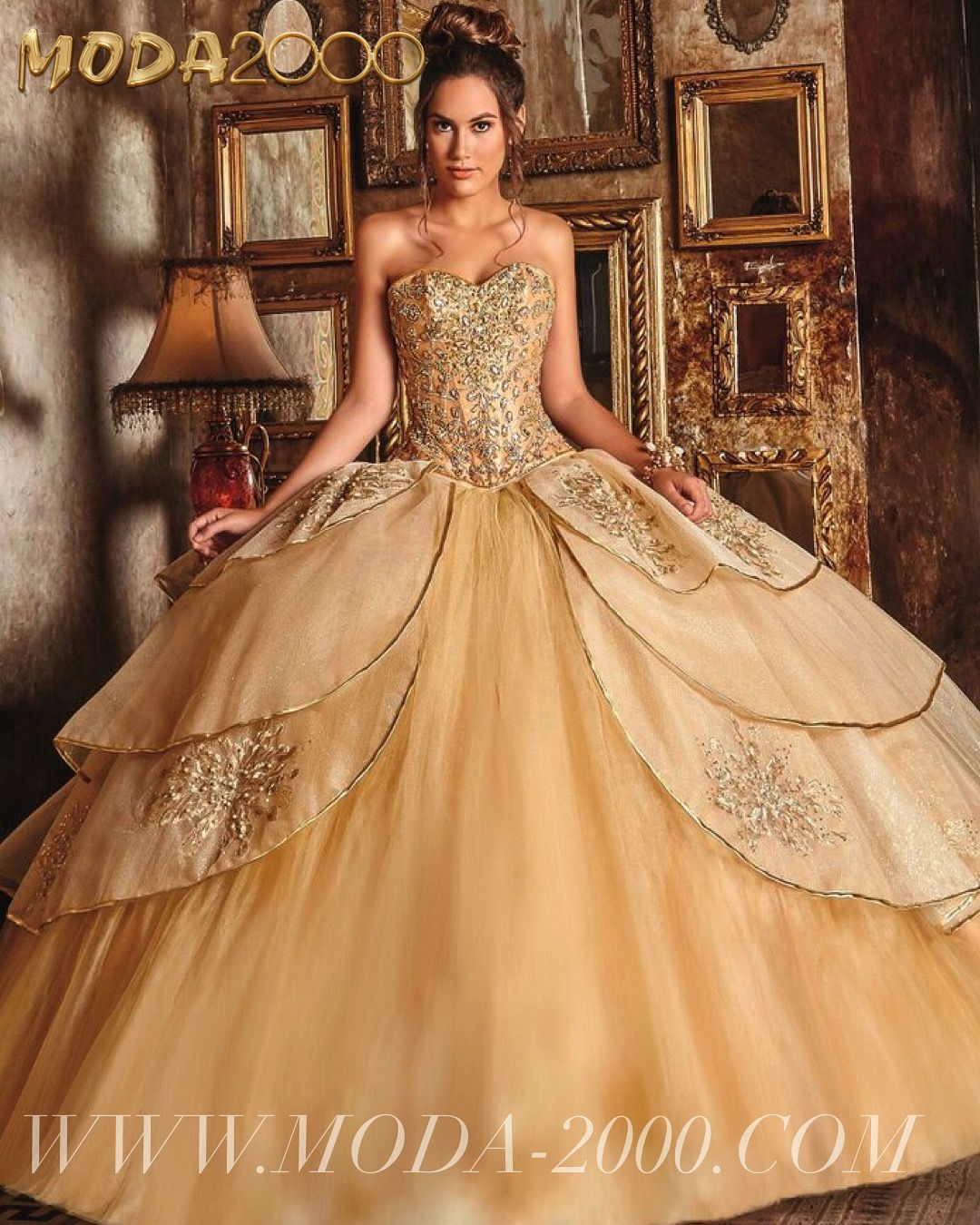 e8d6c6883cd Beautiful gold quinceanera dress