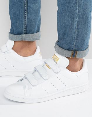 low priced 61ba9 5a1b2 adidas Originals Stan Smith CF Sneakers In White S75188