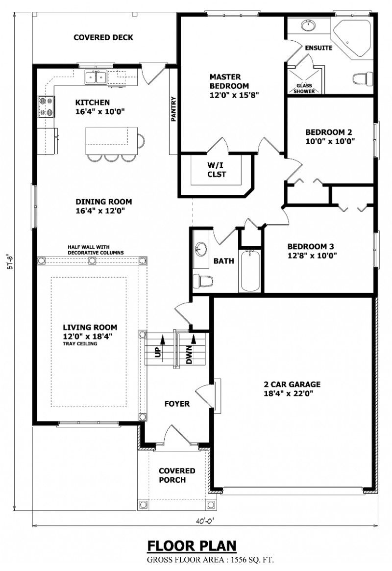 House Plans Canada raised bungalow Small house floor