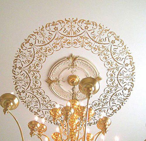 Decorative Stencil Georgian Ceiling Medallion Diy Home Decor