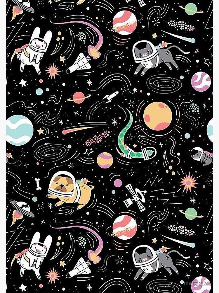 Space Spiral Notebook by maramk