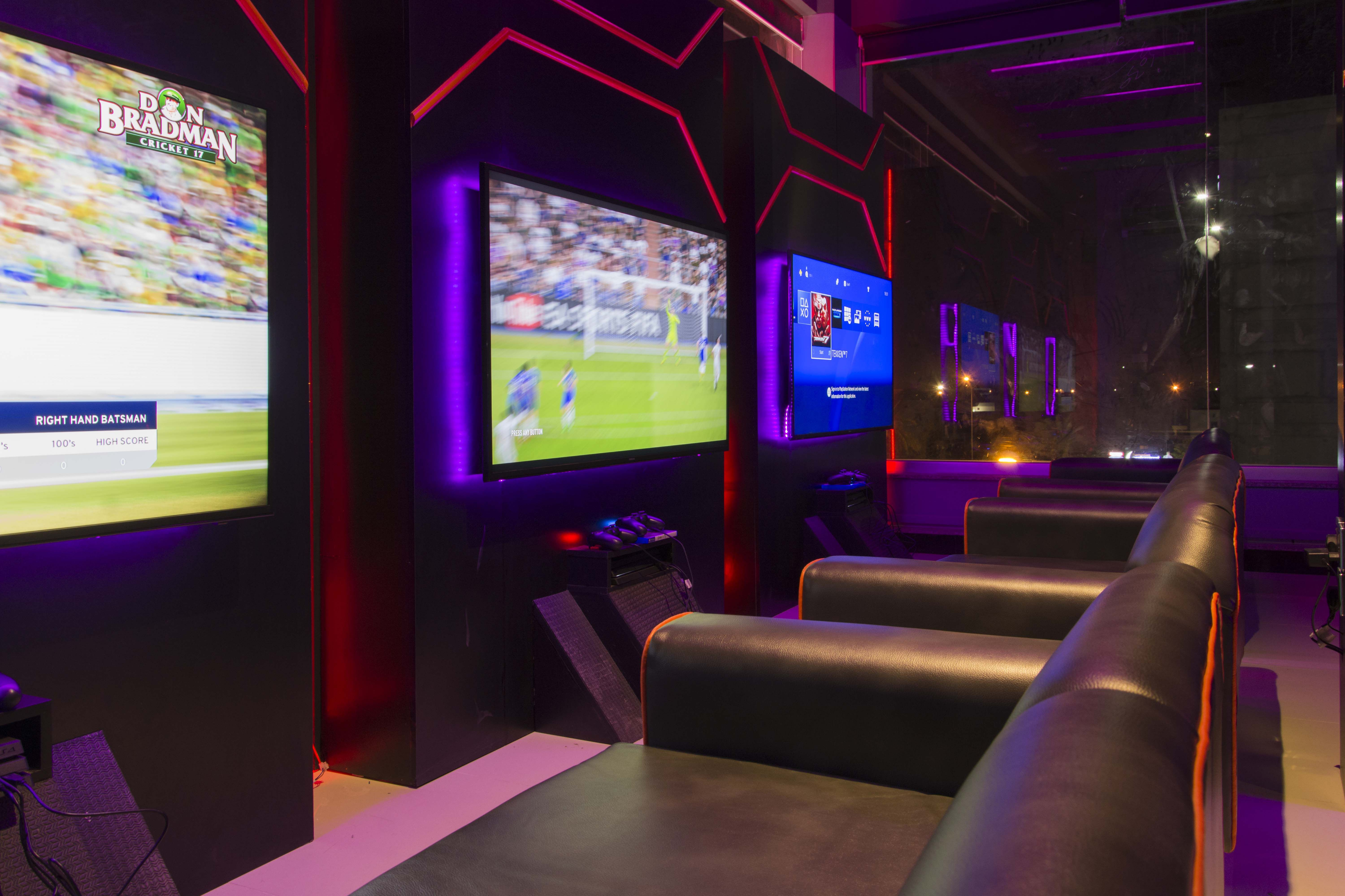 Goood Place Game Room Design Video Game Rooms Gaming Lounge