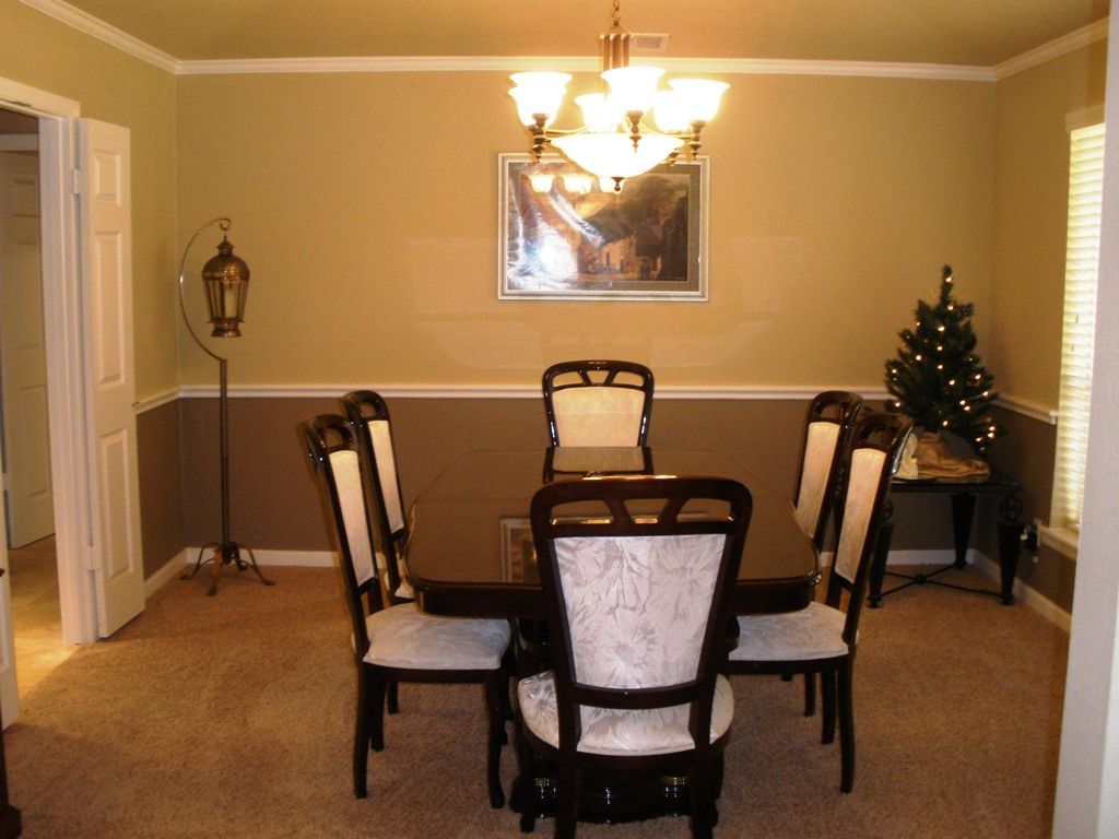Chair Rail In Dining Room  Darker Color On Top Or Bottom  Home Fascinating Dining Room Colors With Chair Rail Design Ideas