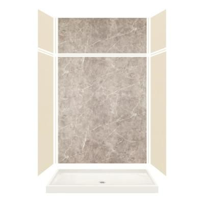 Transolid Expressions 32 In X 60 In X 96 In Shower Kit With