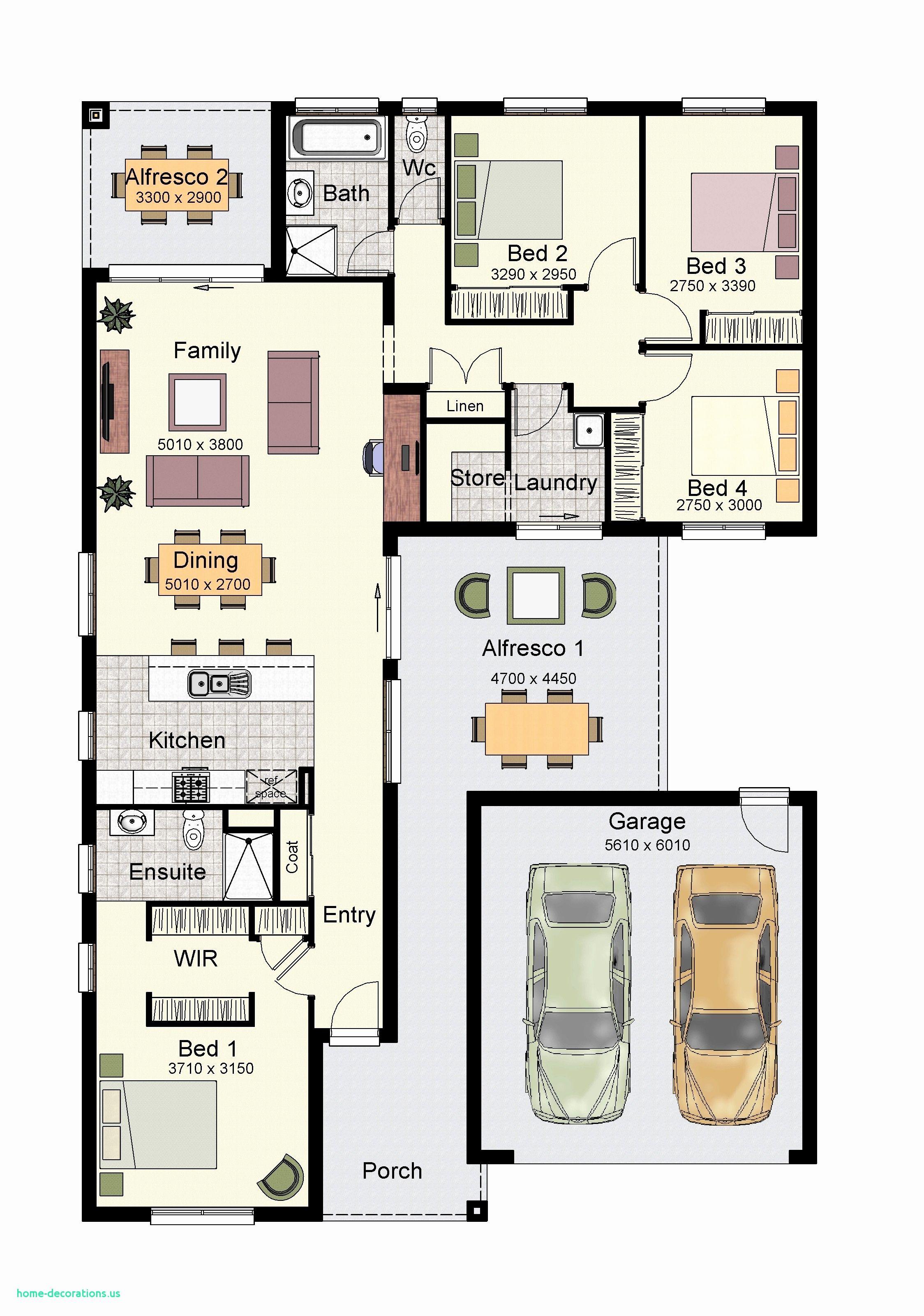Elegant Home Floor Plan Designs Denah Rumah Desain Interior Rumah