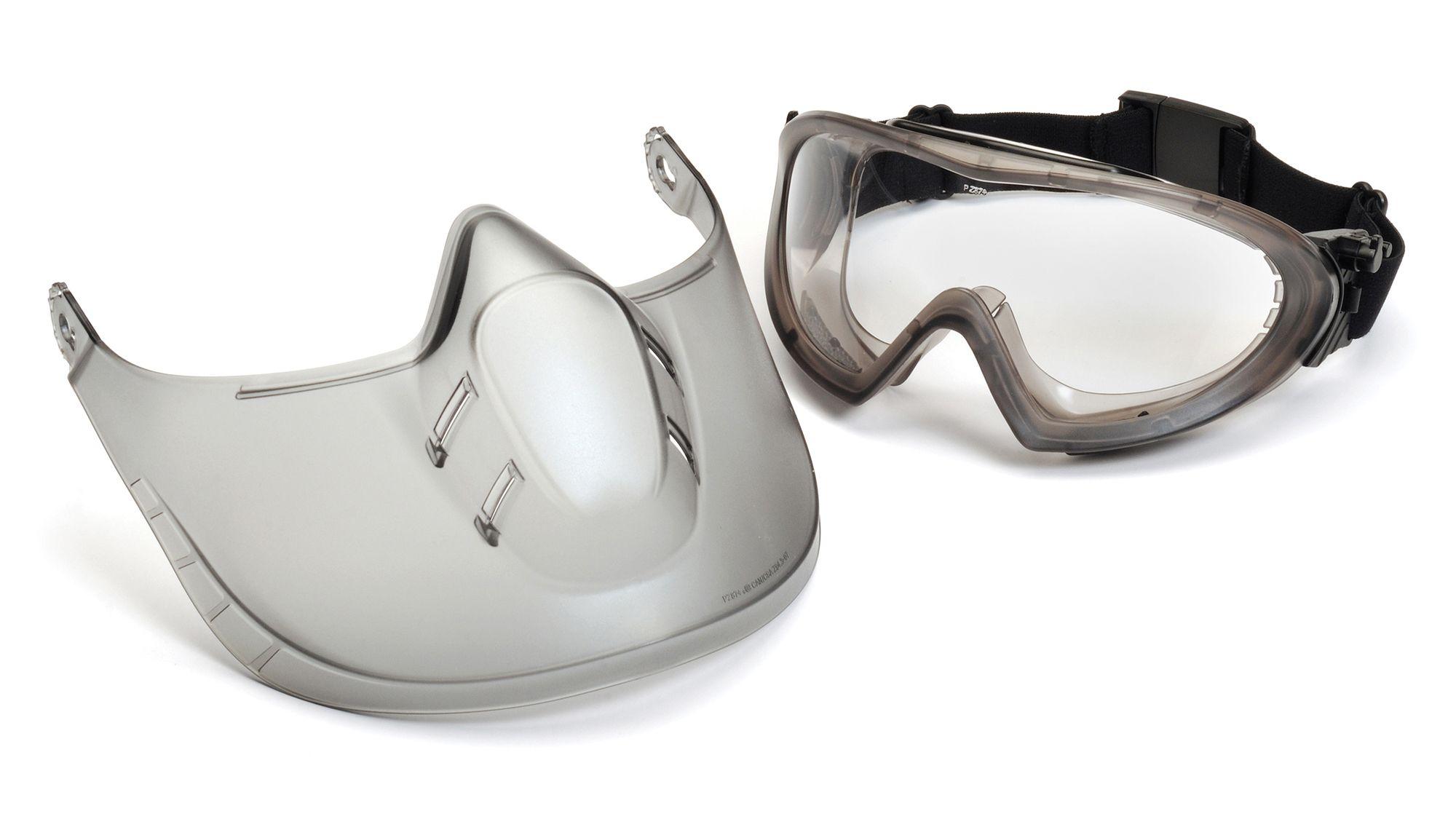 Goggle Capstone by Pyramex con protector facial