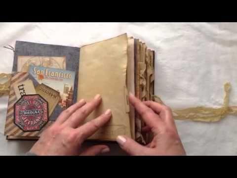 Vintage travel journal - YouTube