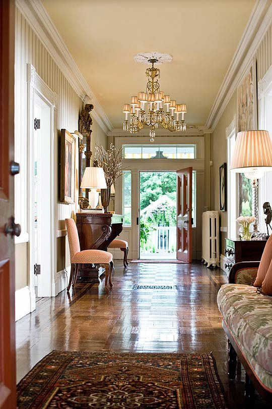 This entry hall has doors on both sides perfect for embracing those hot summer days Pinterest home decor hall