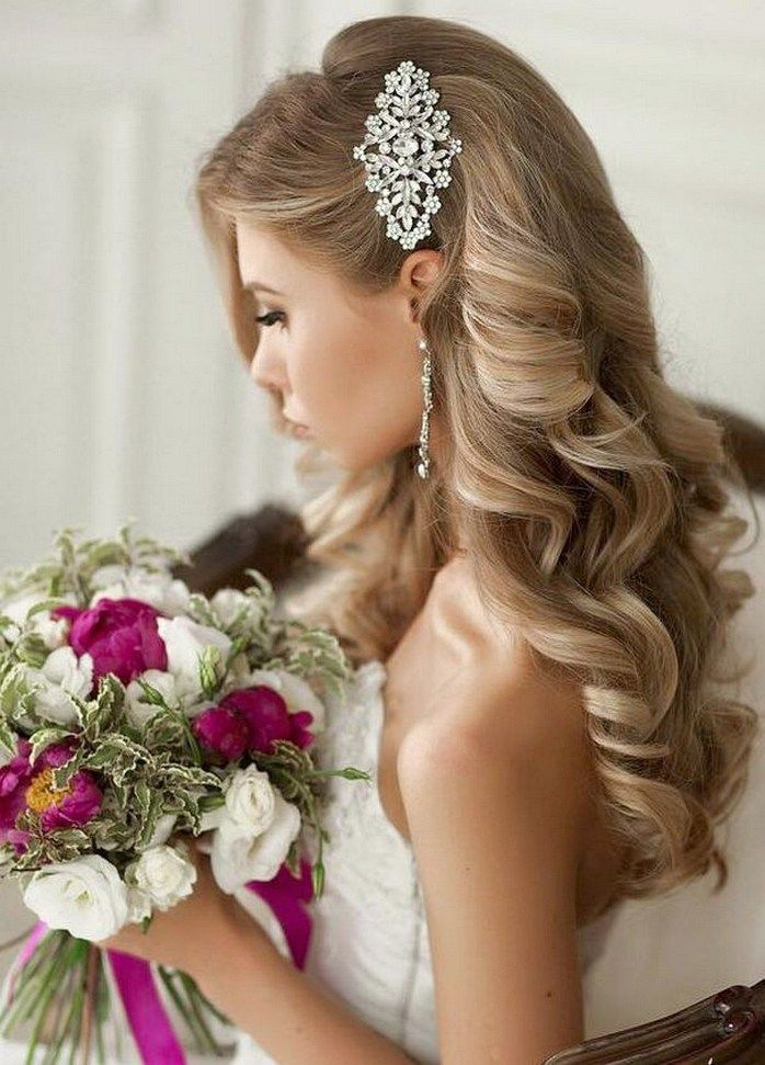 Vintage Bridesmaid Hairstyles 63 Romantic Wedding Hair Glamorous Wedding Hair Bridal Hair