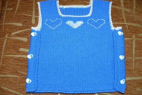 мастер класс для начинающих по вязанию на спицах детский жилет