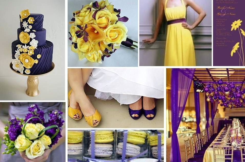 Purple And Yellow Wedding Idea Events By Love
