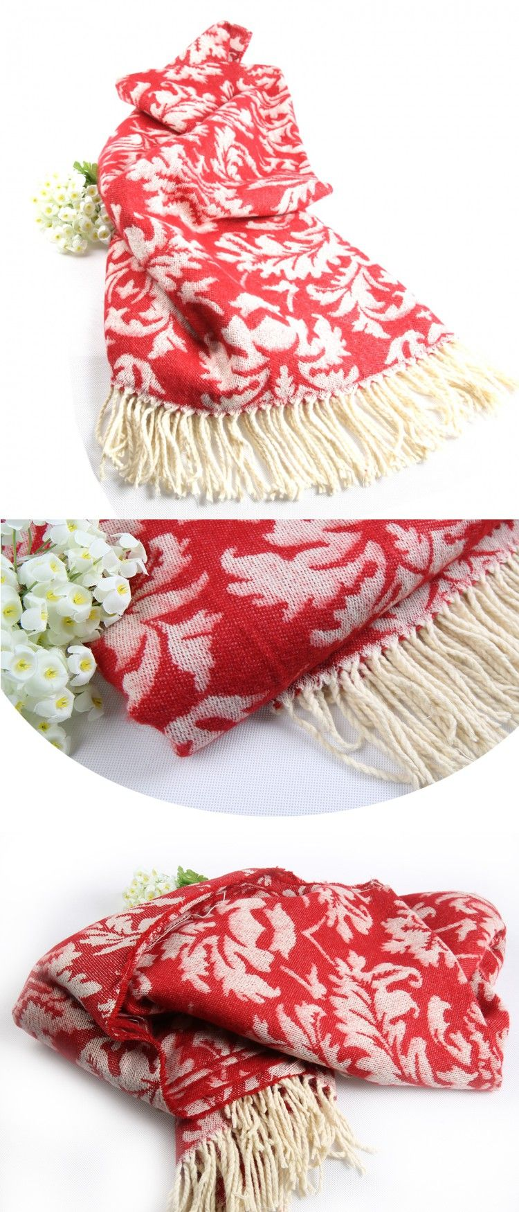 Fashion decorative flower printing cape blanket decoration carpet130x170cm  knitted blanket $20.8
